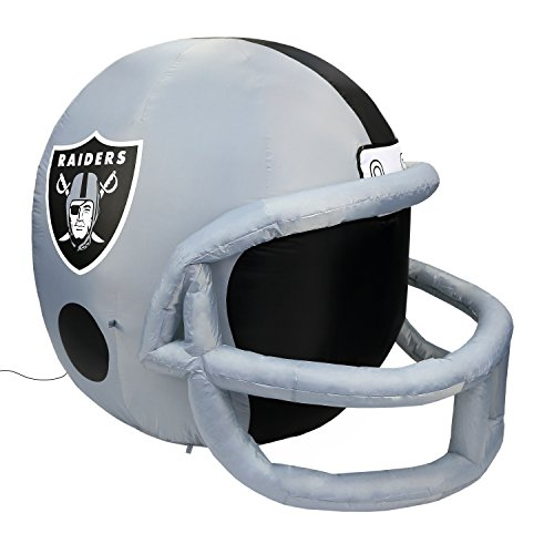 NFL Oakland Raiders Team Inflatable Lawn Helmet, Gray, One Size