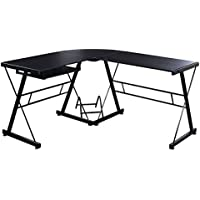 Goplus L-Shape Computer Desk PC Wood Laptop Table Workstation Corner Home Office Black
