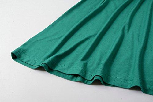 LARACE Women 3/4 Sleeve Tunic Top Loose Fit Flare T-Shirt(3X, Deep Green) by LARACE (Image #7)
