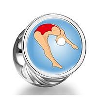 London 2012 Olympics weiblichen Spieler tauchen von den Sprungbrett wei?en...