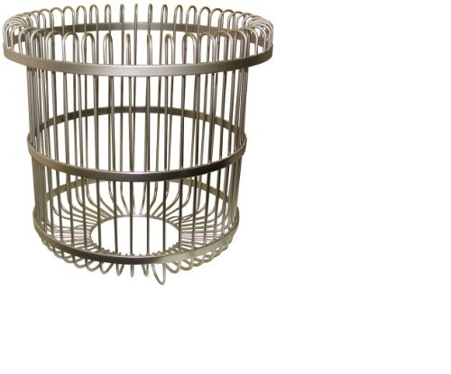 Westbrass WBK-300B-PCH Wire Free Standing Waste Basket, Polished Chrome