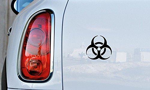 [Biohazard Symbol Car Vinyl Sticker Decal Bumper Sticker for Auto Cars Trucks Windshield Custom Walls Windows Ipad Macbook Laptop and More] (Biohazard Costumes)