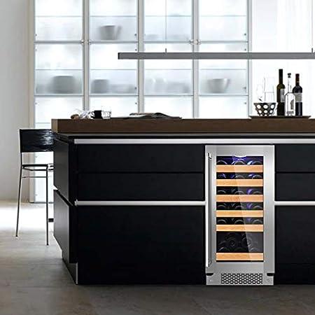 hanzeni Nevera Vino - Refrigerador De Vino con Compresor Libre De Escarcha Integrado O Independiente De 30 Botellas para Vinos Blancos Y Tintos, Ahorro De Energía Y Protección del Medio Ambiente