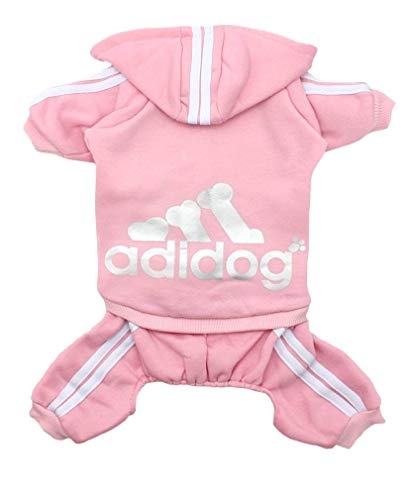 Cute Clothes For Puppies (Scheppend Original Adidog Pet Clothes for Dog Cat Puppy Hoodies Coat Doggie Winter Sweatshirt Warm Sweater Dog Outfits, Pink Extra)