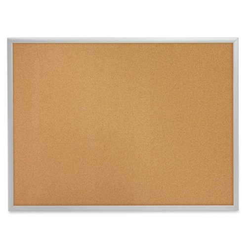 Quartet Cork Bulletin Board, Cork Board, 4' x 3', Aluminum Frame (2304) (Boards Natural Bulletin Quartet Cork)