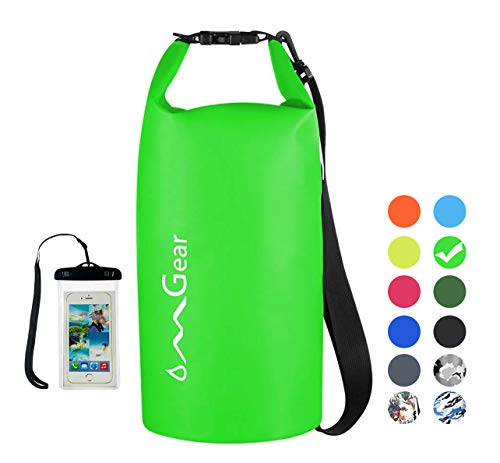 OMGear Waterproof Dry Bag Backpack Waterproof Phone Pouch 40L/30L/20L/10L/5L Floating Dry Sack for Kayaking Boating…