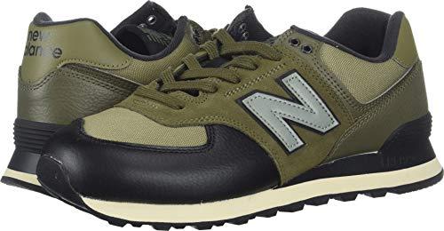 (New Balance Men's Iconic 574 Sneaker, Covert Green/Triumph Green, 9 2E)