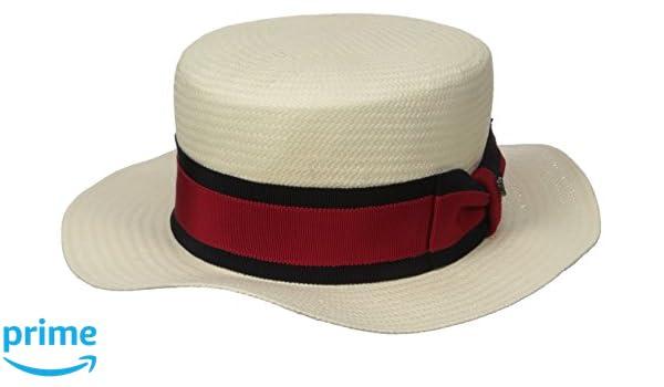 71b425b713ffa Hickey Freeman Men s Toyo Straw Paper Boater Hat at Amazon Men s Clothing  store