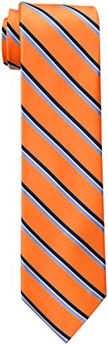 Tommy Hilfiger Men's Stripe Tie, Orange, One Size