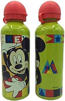 ML Una Botella de Agua de Aluminio Mickey mause, cantimplora térmica a Prueba de Fugas sin BPA para Levar a la Escuela y Deportes el Termo 500ml para niños y niñas (Verde)