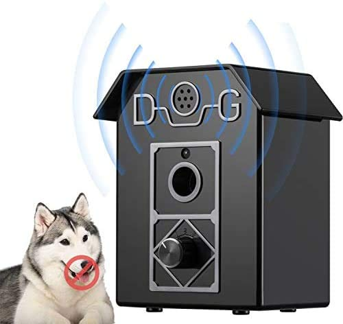 Stop Barking Device, Anti-bark Box Ultrasonic Dog Bark Control, Sonic Bark Deterrents Bark Controller Indoor & Outdoor Use 50 Ft Range Safe for Dogs & Human