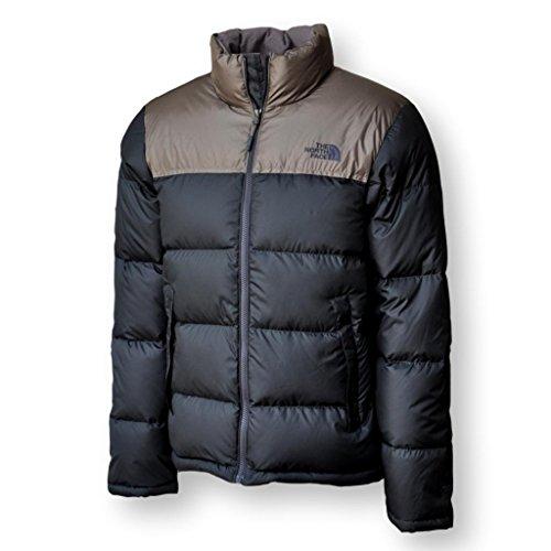 - The North Face Men Nuptse 700 Down Jacket, Asphalt Grey/Falcon Brown, M