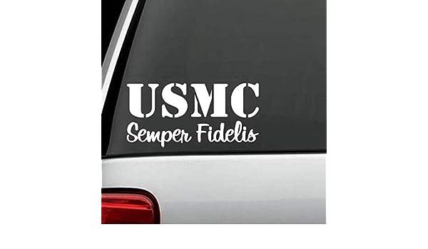 USMC MARINE CORP SEMPER FI FIDELIS DECAL STICKER for Car TRUCK SUV VAN LAPTOP