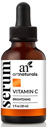ArtNaturals Anti-Aging Vitamin-C Serum with Hyaluronic Acid & Vit E - Wrinkle Repairs Dark Circles, Fades Age Spots & Sun Damage - Enhanced 20% Top Vitamin C Super Strength - Organic Ingredients, 1 Oz