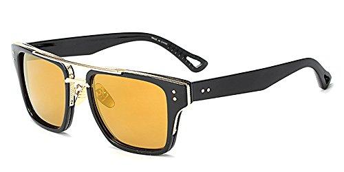 Mujers Gafas sol Estilo Retro y Gafas Verano de Extragrandes de 02 BOZEVON Hombre para Unisex UV400 UAxwnq