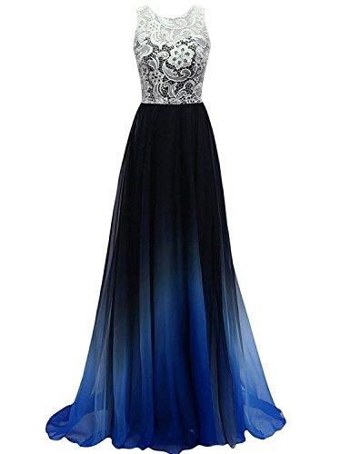 Buy light blue and black prom dresses - 2