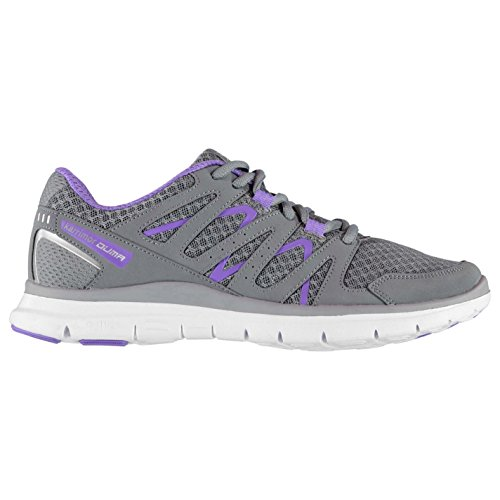 Karrimor Womens Duma Formateurs Lacets Sport Running Cross Training Chaussures Gris / Violet