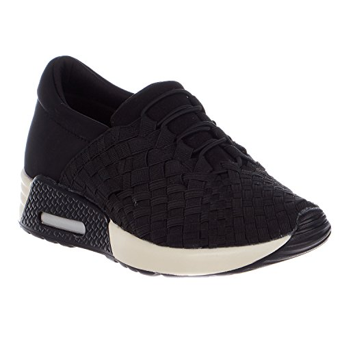 Bernie Mev Womens Best Tori Fashion Sneakers Nero