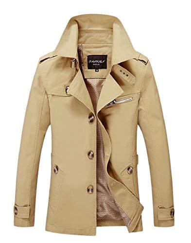 Fit Slim 2 Size Windbreaker Single Jacket Breasted Mens Large Gocgt Autumn qP7XXI