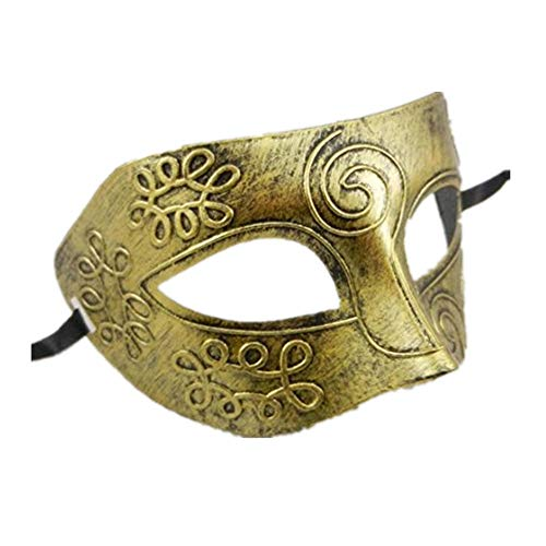 mywaxberry Halloween Festival Retro Greek Roman Warriors Costumes mask (Golden)
