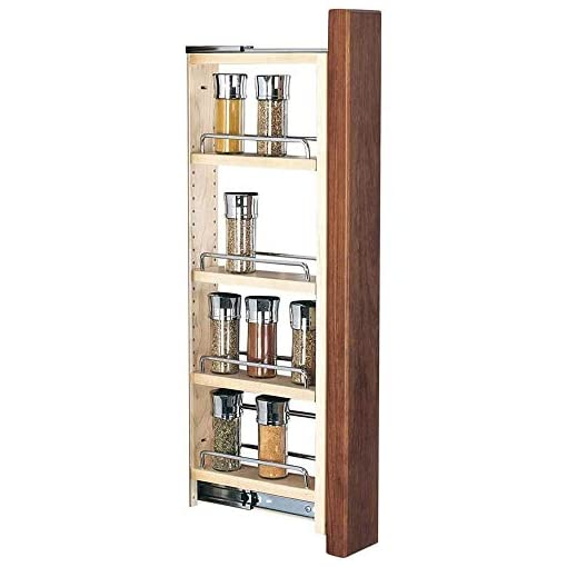 Kitchen Rev-A-Shelf 432-WF39-3C 3 x 39 Inch Wooden Adjustable Pull-Out Between Cabinet Wall Filler Kitchen Storage Organizer… pull-out organizers