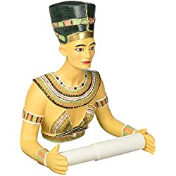 Design Toscano Queen Nefertiti Holder Egyptian Decor-Toilet Paper Roll-Bathroom Wall Décor, Multicolor