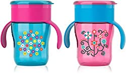 Philips AVENT My Natural Drinking Cup, 9 Ounce, Girl, 2 Count by Philips AVENT