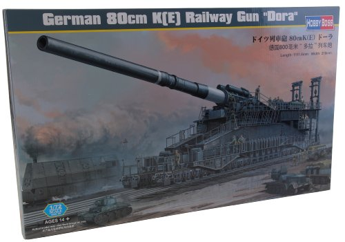 Hobby Boss German 80cm K(E) Railway Gun 'Dora' Vehicle Model Building (Railroad Gun)