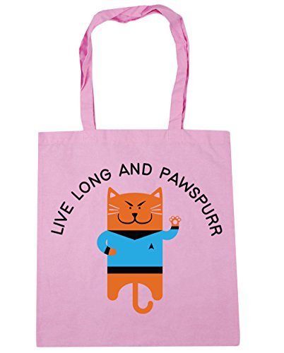long Gym 10 HippoWarehouse Pink Bag pawspurr Live litres Beach Classic x38cm 42cm and Shopping Tote HippoWarehouse 7Ex0Hdw7