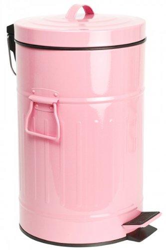 Großartig Treteimer 12 Liter - ROSA - Abfalleimer - Eimer - Tonne  GZ05