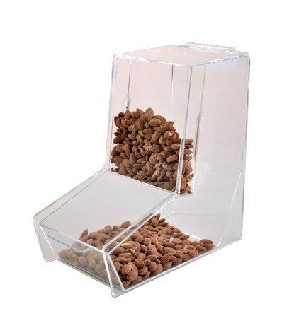 Alimentación por gravedad Bulk dispensador con pantalla frontal | papelera de alimentos a granel | Bulk