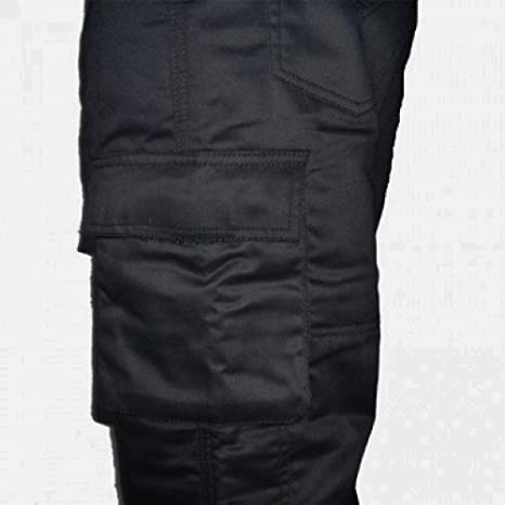 CE-Protektoren Kevlar Bikers Gear Australia ABG Schwarz Motorrad-Jeans//Cargo-Hose