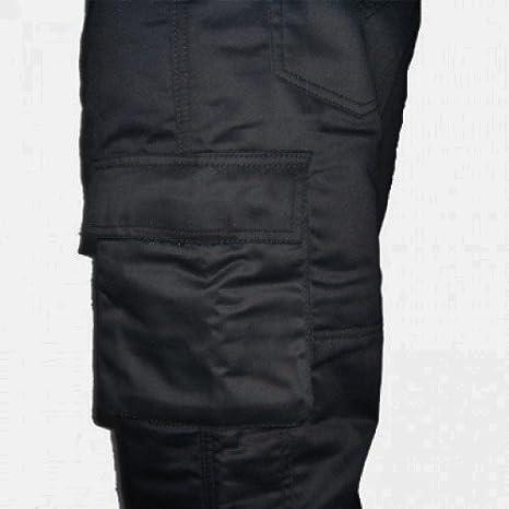Bikers Gear UK Pantalon Moto Tipo Cargo con Bolsillos Laterales y con Kevlar Anti abrasivo en el Forro Interior Color Negro Talla 40 Largo