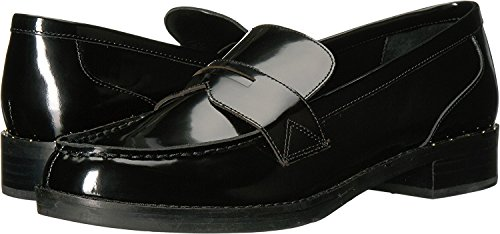 Marc Fisher Womens Vero Leather Closed Toe Loafers, Black Leather, Size 6.5