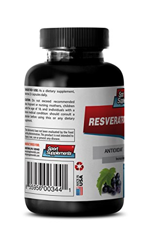 Nutrition Supplement - Resveratrol Supreme 1200mg Red Wine Extract - Natural Antioxidant 1 Bottle 60 Capsules Discount