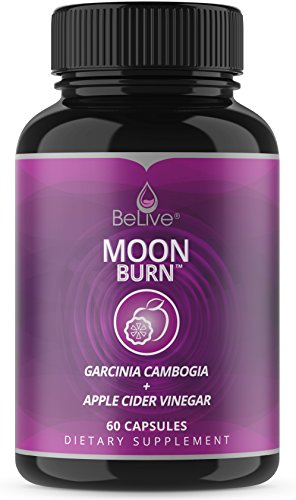 Garcinia Cambogia with Apple Cider Vinegar Weight Loss Pills for Women and Men. Sleep Aid Supplement, Metabolism Booster, Extreme Fat Burner, Appetite Suppressant. MoonBurn 60 Capsules (Loss Metabolism Fat)