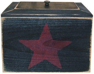 Primitive Recipe Box With Star