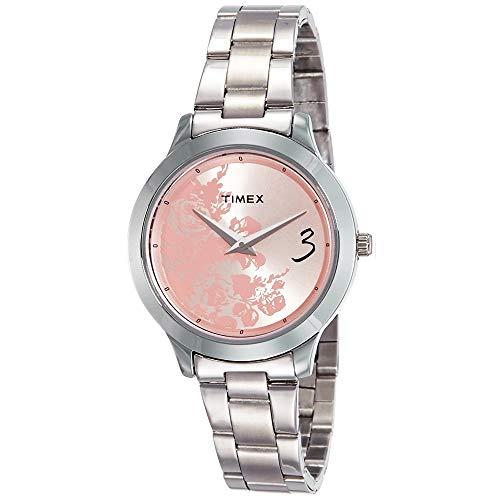 Timex Fashion E Class Analog Pink Dial Women #39;s Watch   TI000T60100