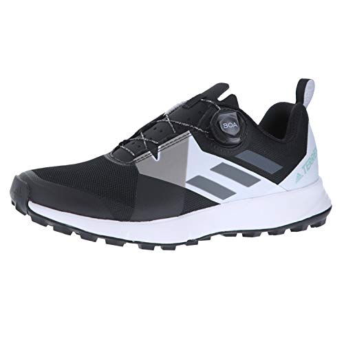 (adidas outdoor Terrex Two Boa Womens Trail Running Shoes, Black/Grey Four/White, 10)