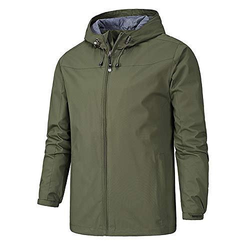 Jacket Softshell Hood Cagoule TFENG Waterproof Men's Green with tBvqvc7S6w