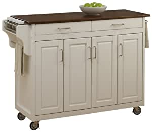 amazon kitchen island cart home styles 9200 1027g create a cart white 4032