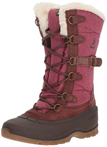 Kamik Women's SNOVALLEY2 Snow Boot, Burgundy, 9 Medium US