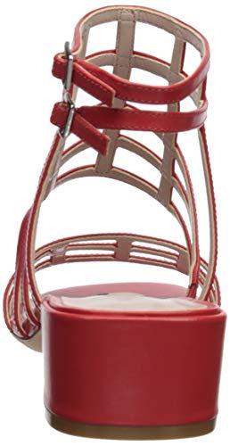 Sandal Leather West Red Women Xerxes Heeled Nine wSPHUpqS
