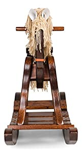 "Amish Made Wooden Rocking horse for toddlers and kids Housewarming gift decoration Hand Crafted in the USA Made of solid oak Size: 32"" W x 16""D x 18""H. by DaySpring International"