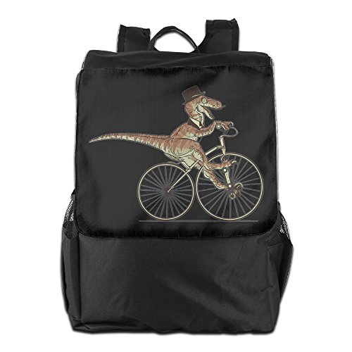 [GTSOXI Outdoor Travel Backpack Bags - Sir Raptor Rides A Bike Backpack Daypack Bookbags Should Bag For Girl Boy Man] (Persona 4 Dancing All Night Costumes)