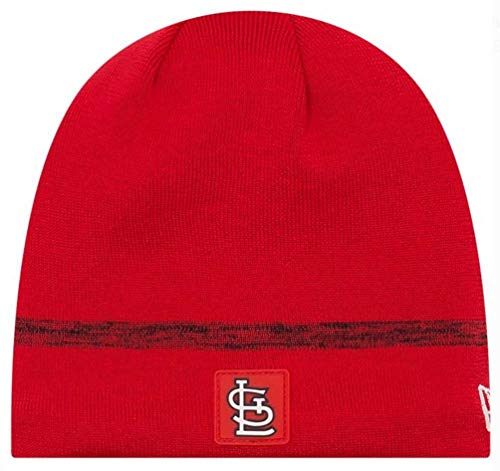 - New Era MLB St Louis Cardinals Clubhouse Stocking Knit Hat Beanie Skull Cap Red