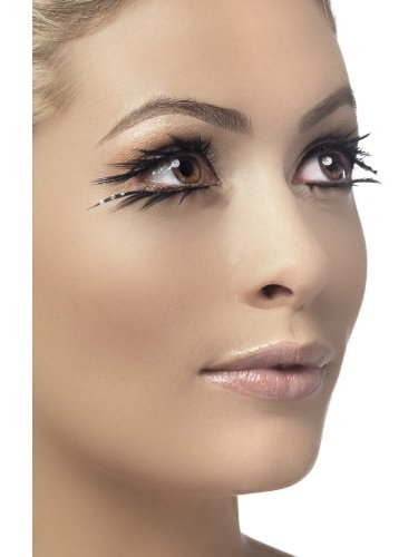 3f4fe2c75ea Smiffy's Fever Women's Eyelashes Black with Crystals Top and Bottom Set, ...
