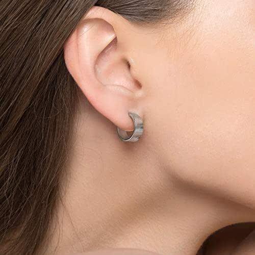 Pendientes de aro de plata esterlina para mujer Pendientes ...
