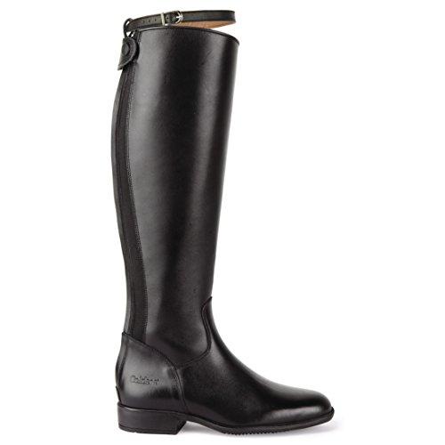 Caldene Dames / Dames Lederen Lange Rijlager Standaard Laarzen Zwart