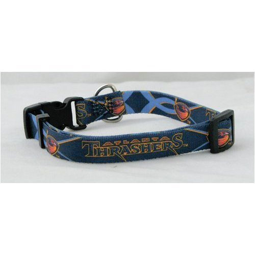 Atlanta Thrashers NHL Pet Collar Adjustable 3/4 Web (Medium)